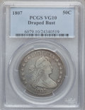 Early Half Dollars: , 1807 50C Draped Bust VG10 PCGS. PCGS Population (64/1144). NGCCensus: (34/1618). Mintage: 301,076. Numismedia Wsl. Price f...