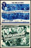 "Movie Posters:Serial, Flash Gordon Conquers the Universe (Universal, 1940). Title LobbyCards (2) (11"" X 14"").. ... (Total: 2 Items)"