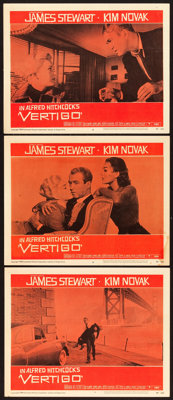"Vertigo (Paramount, 1958). Lobby Cards (3) (11"" X 14""). From the Collection of Wade Williams. ... (Total: 3 It..."