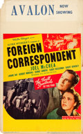 "Movie Posters:Hitchcock, Foreign Correspondent (United Artists, 1940). Window Card (14"" X22"").. ..."
