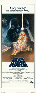 "Movie Posters:Science Fiction, Star Wars (20th Century Fox, 1977). Insert (14"" X 36"") Tom JungArt.. ..."
