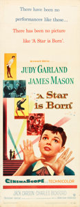 "Movie Posters:Musical, A Star is Born (Warner Brothers, 1954). Insert (14"" X 36"").. ..."