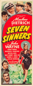"Movie Posters:Adventure, Seven Sinners (Universal, 1940). Insert (14"" X 36"").. ..."