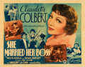 """Movie Posters:Comedy, She Married Her Boss (Columbia, 1935). Half Sheet (22"""" X 28"""").. ..."""
