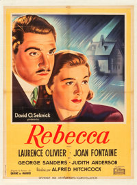 "Rebecca (Hemispheres-Constellation, 1947). First Post-War Release French Affiche (23.75"" X 31.25"")"