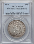 Bust Half Dollars: , 1834 50C Small Date, Small Letters AU53 PCGS. PCGS Population(78/414). ...