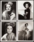 "Movie Posters:Miscellaneous, Norma Shearer by George Hurrell (MGM, 1930s). Portrait Photos (4)(8"" X 10"").. ... (Total: 4 Items)"