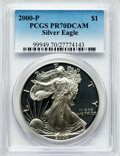 Modern Bullion Coins: , 2000-P $1 Silver Eagle PR70 Deep Cameo PCGS. PCGS Population (679).NGC Census: (1891). Numismedia Wsl. Price for problem ...