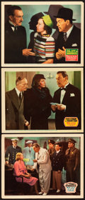 "Movie Posters:Mystery, Charlie Chan in Honolulu and Other Lot (20th Century Fox, 1938).Lobby Cards (3) (11"" X 14"").. ... (Total: 3 Items)"