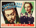 "Movie Posters:Mystery, Charlie Chan at the Olympics (20th Century Fox, 1937). Title LobbyCard (11"" X 14"").. ..."