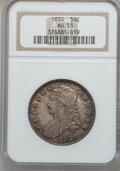 Bust Half Dollars: , 1830 50C Small 0 AU55 NGC. NGC Census: (205/853). PCGS Population(248/531). Mintage: 4,764,800. Numismedia Wsl. Price for ...