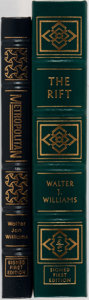 Books:Science Fiction & Fantasy, Walter J. Williams. Two SIGNED Easton Press Editions including: Metropolitan. Easton Press, 1995. First edition thus... (Total: 2 Items)