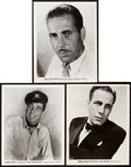 """Movie Posters:Miscellaneous, Humphrey Bogart Lot (Warner Brothers, 1936-1944). Portrait Photos (3) (8"""" X 10"""").. ... (Total: 3 Items)"""