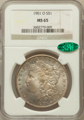 Morgan Dollars: , 1901-O $1 MS65 NGC. CAC. NGC Census: (4627/455). PCGS Population(2666/477). Mintage: 13,320,000. Numismedia Wsl. Price for...