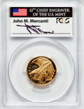 Modern Issues, 1987-W G$5 Constitution Gold Five Dollar PR69 Deep Cameo PCGS. Ex:Signature of John M. Mercanti, 12th Chief Engraver of th...