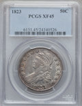 Bust Half Dollars: , 1823 50C XF45 PCGS. PCGS Population (88/544). NGC Census: (80/519).Mintage: 1,694,200. Numismedia Wsl. Price for problem f...