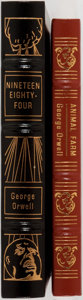 Books:Literature 1900-up, George Orwell. Two Easton Press Collector's Editions. Including: Animal Farm. Easton Press, 1992. Leather bindin... (Total: 2 Items)