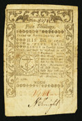 Colonial Notes:Rhode Island, Rhode Island May 1786 5s Fine.. ...