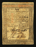 Colonial Notes:Pennsylvania, Pennsylvania October 1, 1773 20s Very Fine.. ...