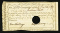 Colonial Notes:Connecticut, Connecticut Interest Certificate 10 Shillings Dec. 14, 1789Anderson CT-49 Very Fine.. ...