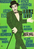 """Movie Posters:Drama, The Entertainer (CWF, 1961). Polish One Sheet (23"""" X 33"""").. ..."""
