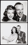 """Movie Posters:Musical, Rita Hayworth and Fred Astaire in You'll Never Get Rich (Columbia,1941). Portrait Photos (2) (8"""" X 10"""").. ... (Total: 2 Items)"""