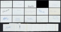 Baseball Collectibles:Others, Baseball Stars Signed Index Cards Lot of 200+....