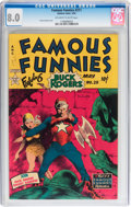 Golden Age (1938-1955):Science Fiction, Famous Funnies #211 (Eastern Color, 1954) CGC VF 8.0 Off-white to white pages....