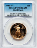 Modern Bullion Coins: , 2001-W G$25 Half-Ounce Gold Eagle PR70 Deep Cameo PCGS. PCGS Population (163). NGC Census: (677). Numismedia Wsl. Price fo...