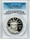 Modern Bullion Coins, 2006-W P$100 One-Ounce Platinum Statue of Liberty PR70 Deep CameoPCGS. PCGS Population (188). NGC Census: (588). Numismed...