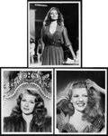 "Movie Posters:Musical, Rita Hayworth in Down to Earth by Ned Scott (Columbia, 1947). Portrait Photos (3) (8"" X 10"").. ... (Total: 3 Items)"