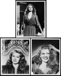 """Rita Hayworth in Down to Earth by Ned Scott (Columbia, 1947). Portrait Photos (3) (8"""" X 10""""). ... (Total: 3 It..."""