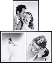 "Rita Hayworth and Larry Parks in Down to Earth by Ned Scott (Columbia, 1947). Portrait Photos (3) (8"" X 10"")..."