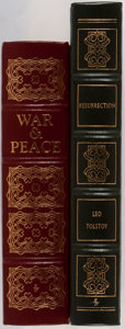 Books:Literature 1900-up, Leo Tolstoy. Two Leather Bound Easton Press Collector's Editions.Including: War and Peace. Easton Press, 1981. ... (Total: 2Items)