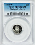 Modern Bullion Coins, 2000-W P$10 Tenth-Ounce Statue of Liberty PR70 Deep Cameo PCGS.PCGS Population (264). NGC Census: (646). Numismedia Wsl. ...