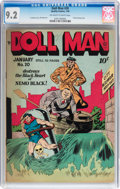 Golden Age (1938-1955):Superhero, Doll Man #20 (Quality, 1949) CGC NM- 9.2 Off-white to white pages....