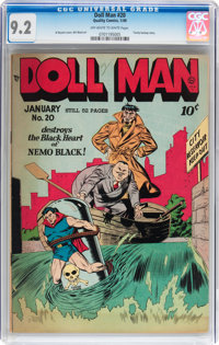Doll Man #20 (Quality, 1949) CGC NM- 9.2 Off-white to white pages