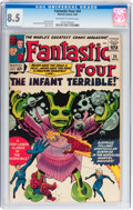 Silver Age (1956-1969):Superhero, Fantastic Four #24 (Marvel, 1964) CGC VF+ 8.5 Off-white to white pages....