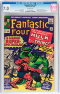Silver Age (1956-1969):Superhero, Fantastic Four #25 (Marvel, 1964) CGC FN/VF 7.0 Off-white pages....