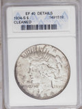 Peace Dollars: , 1934-S $1 --Cleaned-- ANACS. XF40 Details. NGC Census: (67/1543). PCGS Population (102/2423). Mintage: 1,011,000. Numismedia...