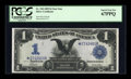 Large Size:Silver Certificates, Fr. 230 $1 1899 Silver Certificate Star Note PCGS Superb Gem New67PPQ....