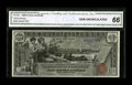 Large Size:Silver Certificates, Fr. 224 $1 1896 Silver Certificate CGA Gem Uncirculated 66....