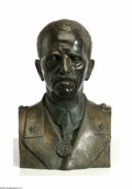 Decorative Arts, Continental:Other , Continental Bronze Bust of King Emmanuel lllItaly, c.1930 Thepatinated larger than life sized bust of King Emmanuel III ... (1 )
