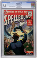 Silver Age (1956-1969):Horror, Spellbound #27 (Atlas, 1956) CGC VF- 7.5 Off-white to whitepages....