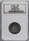 Proof Seated Quarters: , 1876 25C PR63 NGC. NGC Census: (28/105). PCGS Population (48/66).Mintage: 1,150. Numismedia Wsl. Price for NGC/PCGS coin i...