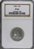 Proof Seated Quarters: , 1882 25C PR62 NGC. NGC Census: (21/200). PCGS Population (44/196).Mintage: 1,100. Numismedia Wsl. Price for NGC/PCGS coin ...