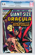 Bronze Age (1970-1979):Horror, Giant-Size Dracula #3 (Marvel, 1974) CGC NM 9.4 Off-white to whitepages....