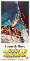 "Movie Posters:Drama, A Night to Remember (Rank, 1959). British Three Sheet (39"" X80.5"").. ..."