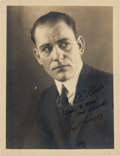 Movie/TV Memorabilia:Autographs and Signed Items, A Lon Chaney Signed Sepia Photograph, Circa 1925....