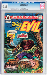 Tales of Evil #1 (Atlas-Seaboard, 1975) CGC NM/MT 9.8 Off-white to white pages